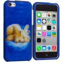 Apple iPhone 5C Polar Bear Hard Rubberized Design Case Cover Angle 1