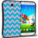 Samsung Galaxy S4 Pink Wave Hybrid TPU Hard Soft Shockproof Drop Proof Case Cover Angle 1