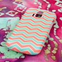 ZTE Radiant/ Sonata 4G - Mint Chevron MPERO SNAPZ - Rubberized Case Cover Angle 3