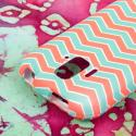 ZTE Radiant/ Sonata 4G - Mint Chevron MPERO SNAPZ - Rubberized Case Cover Angle 6