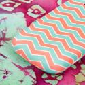 ZTE Radiant/ Sonata 4G - Mint Chevron MPERO SNAPZ - Rubberized Case Cover Angle 7