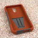 HTC One E8 - Sandstone / Gray MPERO IMPACT X - Kickstand Case Cover Angle 2