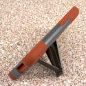 HTC One E8 - Sandstone / Gray MPERO IMPACT X - Kickstand Case Cover Angle 4