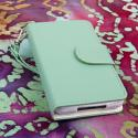 LG Optimus F3 - Mint MPERO FLEX FLIP Wallet Case Cover Angle 2