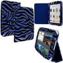 Barnes & Noble Nook HD 7.0 Blue Zebra Folio Pouch Case Cover Stand Angle 1