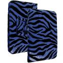 Barnes & Noble Nook HD 7.0 Blue Zebra Folio Pouch Case Cover Stand Angle 2