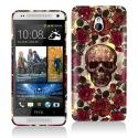 HTC One Mini Gorgeous Skull Hard Rubberized Design Case Cover Angle 1
