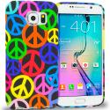 Samsung Galaxy S6 Peace Sign TPU Design Soft Rubber Case Cover Angle 1