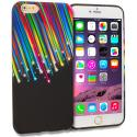 Apple iPhone 6 Plus 6S Plus (5.5) Rainbow Star TPU Design Soft Rubber Case Cover Angle 1