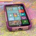 Samsung ATIV SE - Pink MPERO IMPACT X - Kickstand Case Cover Angle 2