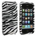 Apple iPhone 3G / 3GS Black / White Zebra Design Crystal Hard Case Cover Angle 1