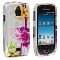 Samsung Exhibit 4G T759 Purple Flower Chain Design Crystal Hard Case Cover Angle 1