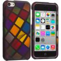 Apple iPhone 5C Color Ball Hard Rubberized Design Case Cover Angle 1