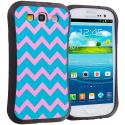 Samsung Galaxy S3 Pink Wave Hybrid TPU Hard Soft Shockproof Drop Proof Case Cover Angle 1