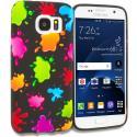 Samsung Galaxy S7 Edge Colorful Splash TPU Design Soft Rubber Case Cover Angle 1