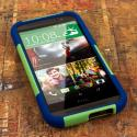 HTC One M8 - Blue-Green MPERO IMPACT X - Kickstand Case Cover Angle 2