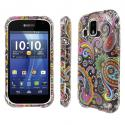 Kyocera Hydro XTRM MPERO Full Protection Black Paisley Case Cover Angle 1