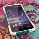 LG G Flex LS995 D950 D959 - Teal Green MPERO IMPACT X - Kickstand Case Cover Angle 2