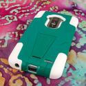 LG G Flex LS995 D950 D959 - Teal Green MPERO IMPACT X - Kickstand Case Cover Angle 3
