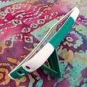 LG G Flex LS995 D950 D959 - Teal Green MPERO IMPACT X - Kickstand Case Cover Angle 4