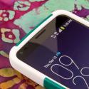 LG G Flex LS995 D950 D959 - Teal Green MPERO IMPACT X - Kickstand Case Cover Angle 5