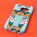 Samsung Galaxy S6 Edge - Aqua Safari MPERO IMPACT X - Kickstand Case Cover Angle 3
