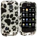 Huawei Fusion U8652 Dog Paw Design Crystal Hard Case Cover Angle 1