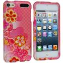 Apple iPod Touch 5th 6th Generation Pink Fairy Tale Hard Rubberized Design Case Cover Angle 1