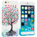 Apple iPhone 6 Plus 6S Plus (5.5) Love Tree on White TPU Design Soft Rubber Case Cover Angle 1