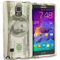 Samsung Galaxy Note 4 Hundred Dollars 2D Hard Rubberized Design Case Cover Angle 1