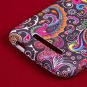 Alcatel OneTouch Pop Mega LTE - Black Paisley MPERO SNAPZ - Rubberized Case Angle 7