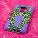 LG G Flex 2 - Purple Rainbow Leopard MPERO IMPACT X - Kickstand Case Cover Angle 3