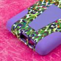 LG G Flex 2 - Purple Rainbow Leopard MPERO IMPACT X - Kickstand Case Cover Angle 7