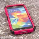 Samsung Galaxy S5 Mini - Hot Pink MPERO IMPACT SR - Kickstand Case Cover Angle 2