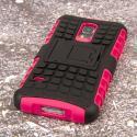 Samsung Galaxy S5 Mini - Hot Pink MPERO IMPACT SR - Kickstand Case Cover Angle 3