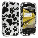 Samsung Conquer 4G D600 Dog Paw Design Crystal Hard Case Cover Angle 1