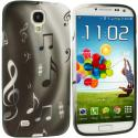 Samsung Galaxy S4 Musical Notes TPU Design Soft Case Cover Angle 1