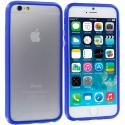 Apple iPhone 6 Plus 6S Plus (5.5) Blue TPU Bumper Frame with Metal Buttons Angle 2