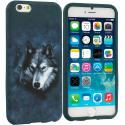 Apple iPhone 6 Plus 6S Plus (5.5) Wolf TPU Design Soft Rubber Case Cover Angle 1