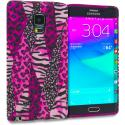 Samsung Galaxy Note Edge Bowknot Zebra TPU Design Soft Rubber Case Cover Angle 1
