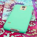 Samsung Galaxy S5 - Mint Green MPERO SNAPZ - Rubberized Case Cover Angle 3