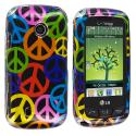 LG Cosmos Touch VN270 Peace Sign Design Crystal Hard Case Cover Angle 1
