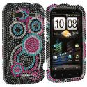 HTC Sensation 4G Bubbles Bling Rhinestone Case Cover Angle 1