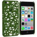 Apple iPhone 5C Green Birds Nest Hard Rubberized Back Cover Case Angle 1