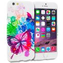 Apple iPhone 6 Plus 6S Plus (5.5) Butterfly Colorful TPU Design Soft Rubber Case Cover Angle 1