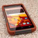 ZTE Max - Sandstone / Gray MPERO IMPACT X - Kickstand Case Cover Angle 2