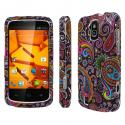 ZTE Force - Black Paisley MPERO SNAPZ - Rubberized Case Cover Angle 1