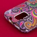 ZTE Force - Black Paisley MPERO SNAPZ - Rubberized Case Cover Angle 6