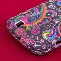ZTE Force - Black Paisley MPERO SNAPZ - Rubberized Case Cover Angle 7