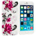 Apple iPhone 6 6S (4.7) Red Flowers TPU Design Soft Case Cover Angle 1